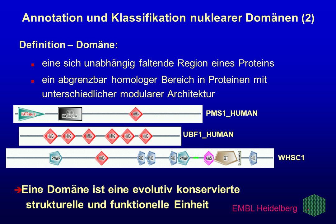 Annotation und Klassifikation nuklearer Domänen (2)