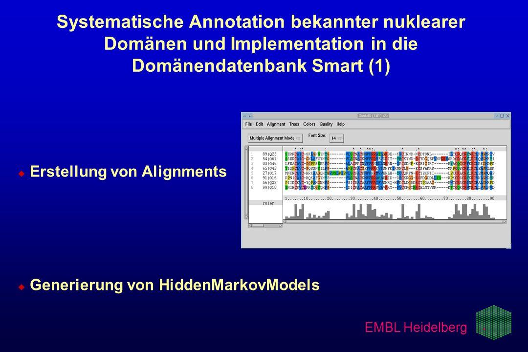 Systematische Annotation bekannter nuklearer Domänen und Implementation in die Domänendatenbank Smart (1)