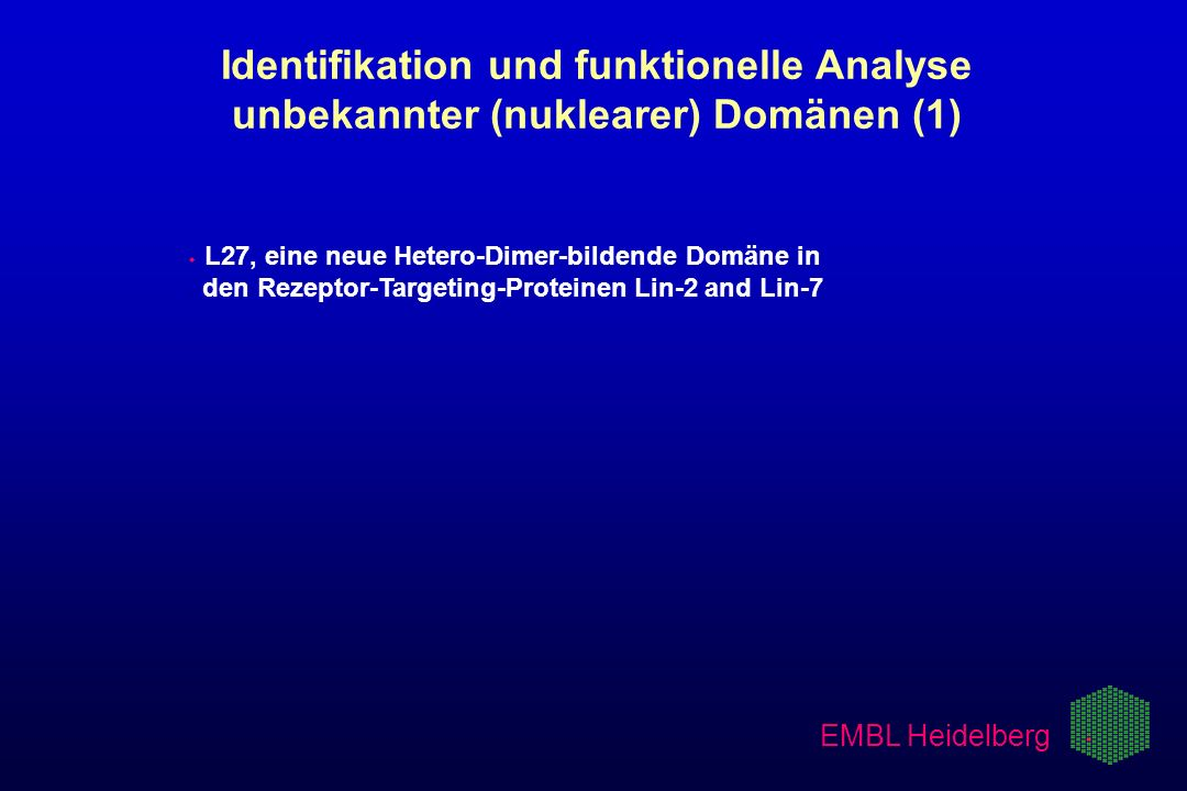 3/21/2017 Identifikation und funktionelle Analyse unbekannter (nuklearer) Domänen (1)