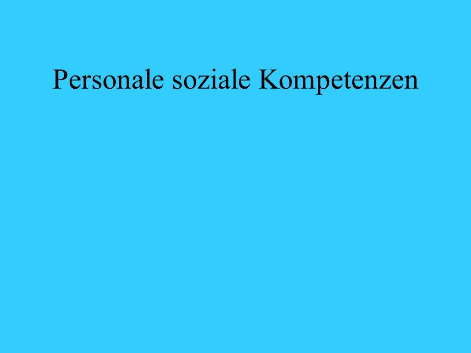 Personale soziale Kompetenzen