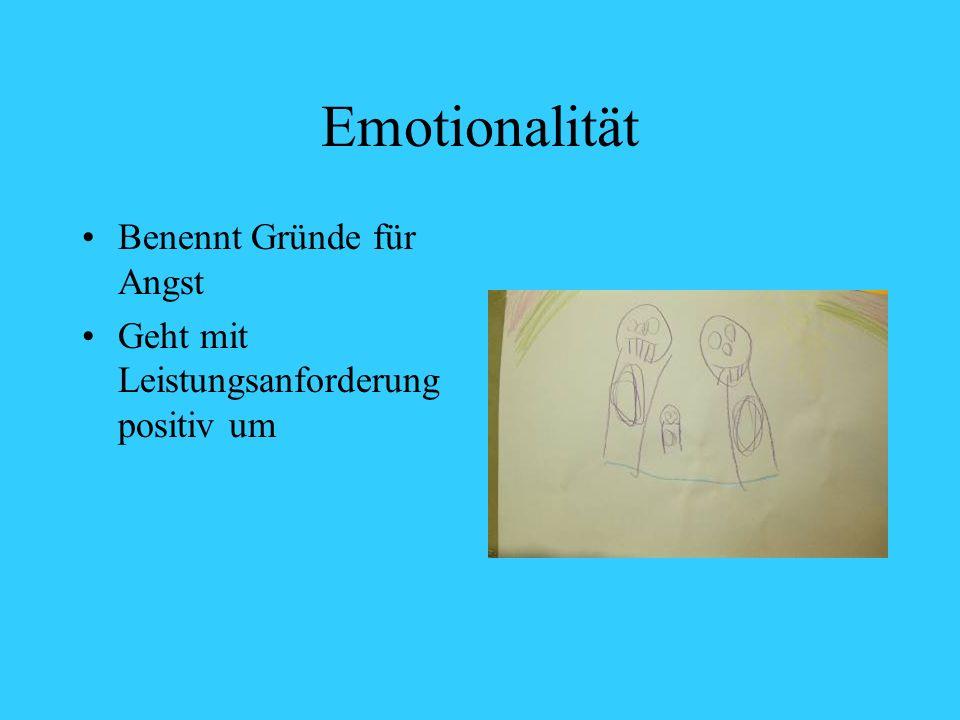 Emotionalität Benennt Gründe für Angst