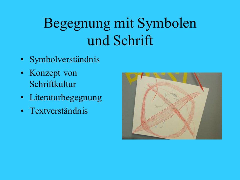 Begegnung mit Symbolen und Schrift