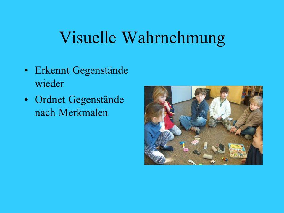 Visuelle Wahrnehmung Erkennt Gegenstände wieder