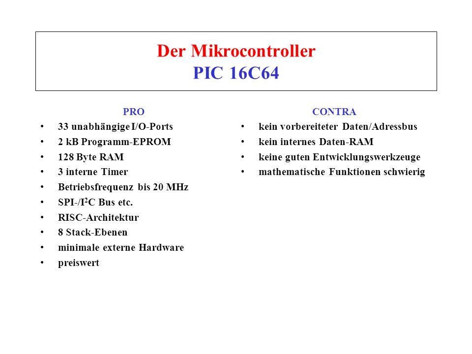 Der Mikrocontroller PIC 16C64