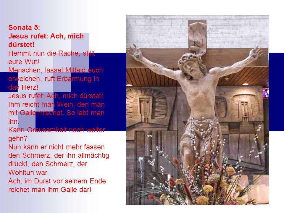 Sonata 5: Jesus rufet: Ach, mich dürstet