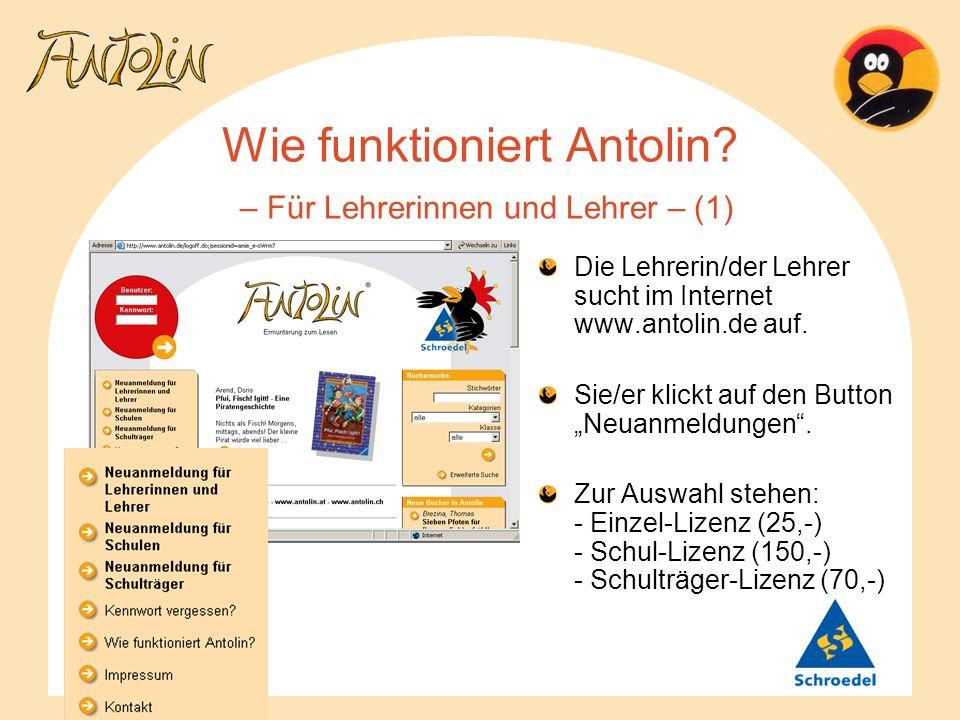 Wie funktioniert Antolin – Für Lehrerinnen und Lehrer – (1)