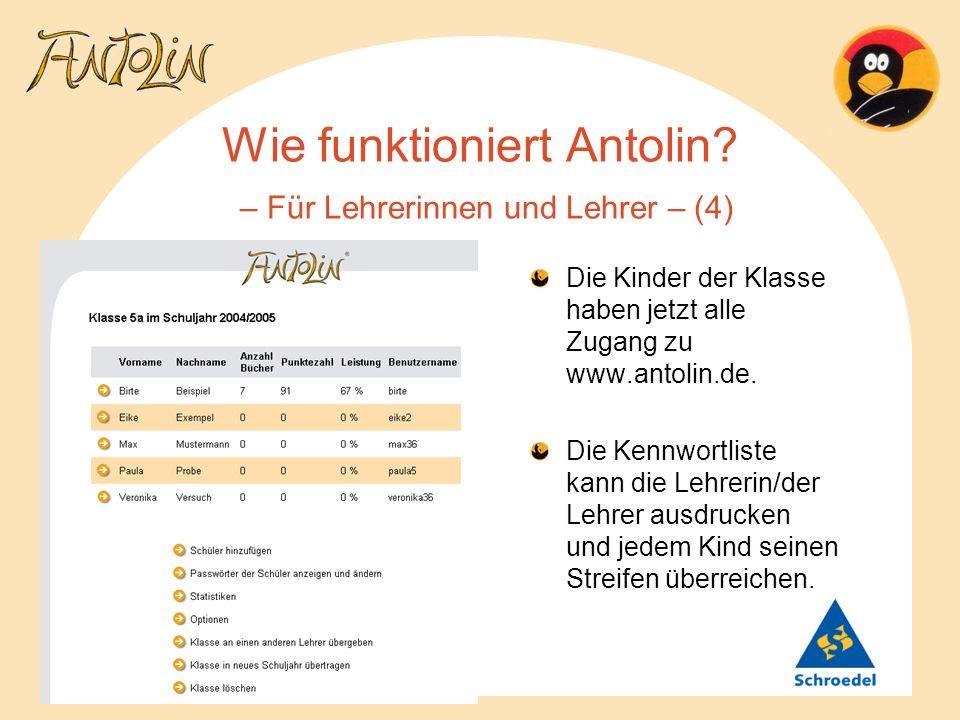 Wie funktioniert Antolin – Für Lehrerinnen und Lehrer – (4)