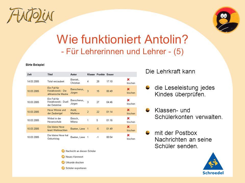 Wie funktioniert Antolin - Für Lehrerinnen und Lehrer - (5)
