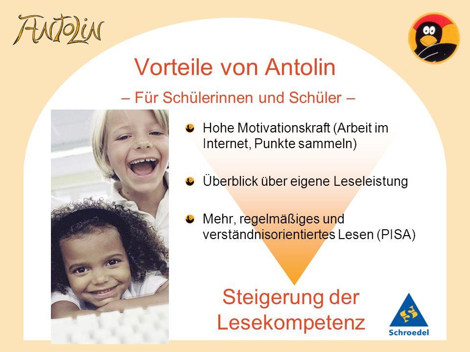 Vorteile von Antolin – Für Schülerinnen und Schüler –