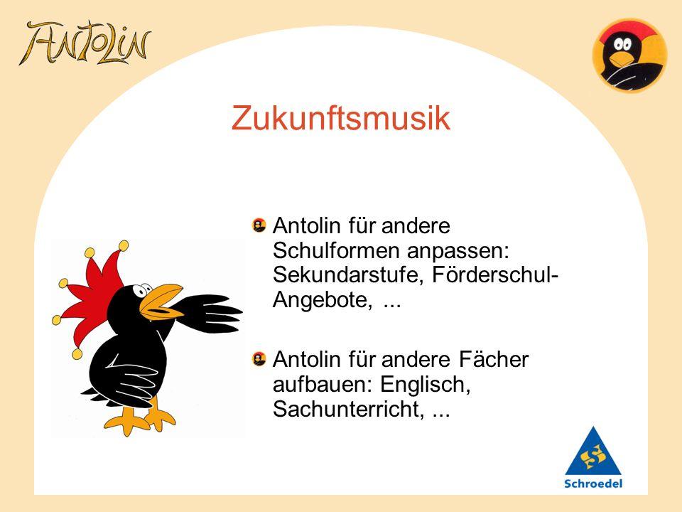 Zukunftsmusik Antolin für andere Schulformen anpassen: Sekundarstufe, Förderschul-Angebote, ...