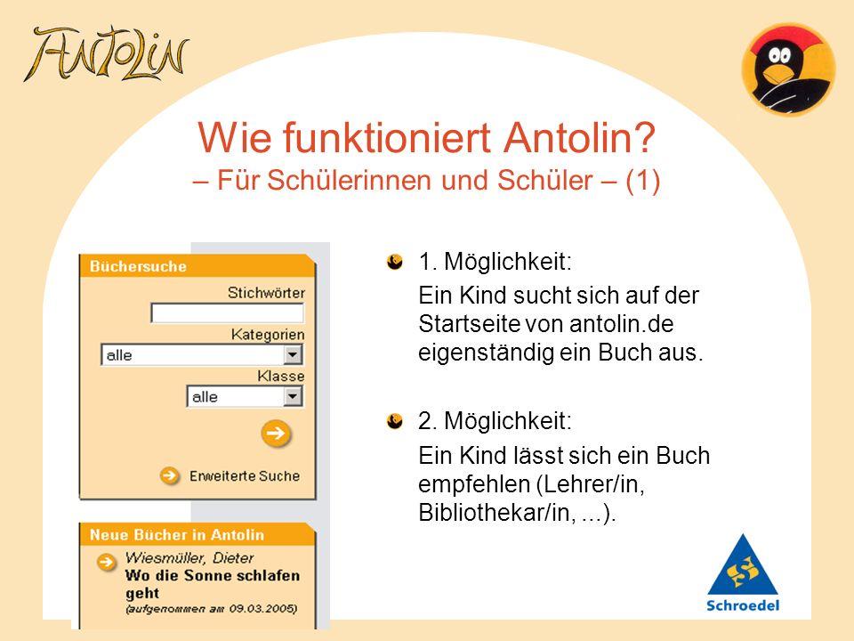 Wie funktioniert Antolin – Für Schülerinnen und Schüler – (1)