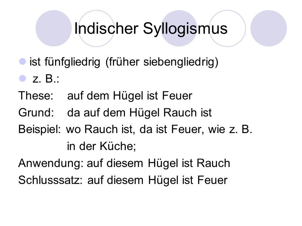 Indischer Syllogismus