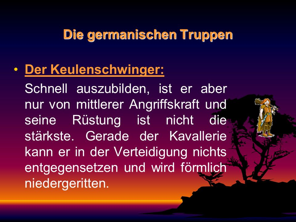 Die germanischen Truppen