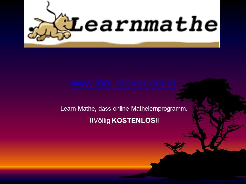 Learn Mathe, dass online Mathelernprogramm.