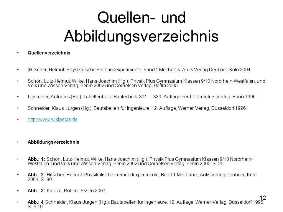 Quellen- und Abbildungsverzeichnis