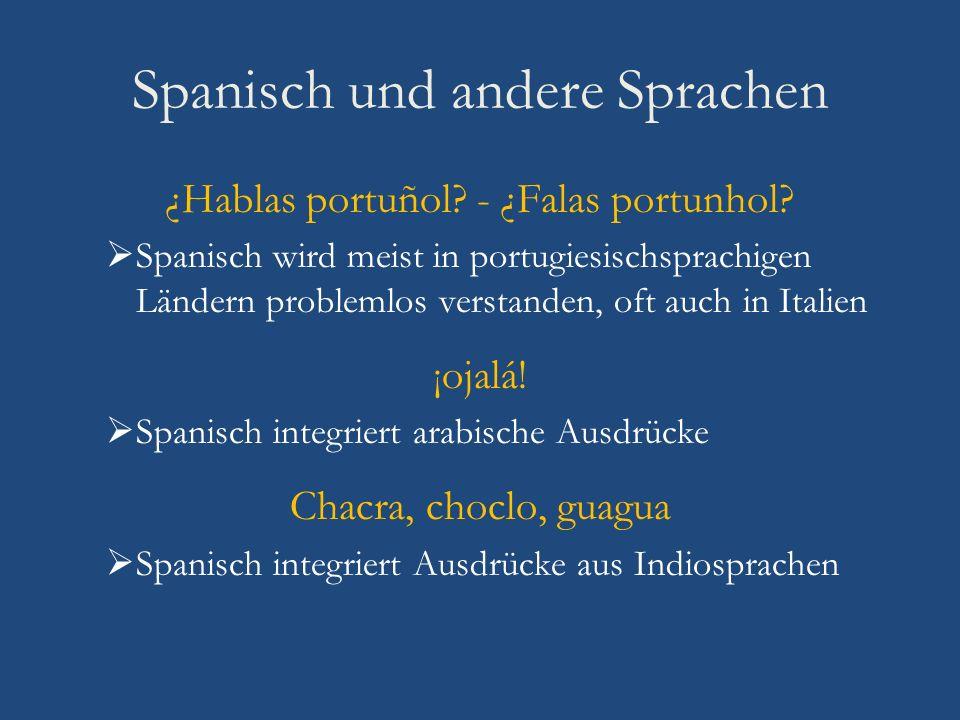 Spanisch und andere Sprachen