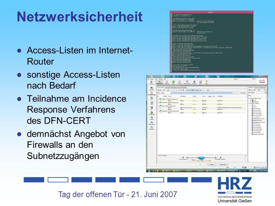 Netzwerksicherheit Access-Listen im Internet-Router