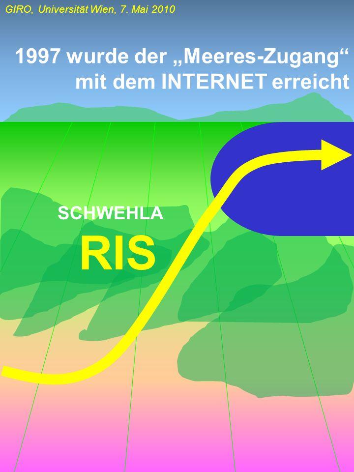 """1997 wurde der """"Meeres-Zugang mit dem INTERNET erreicht"""