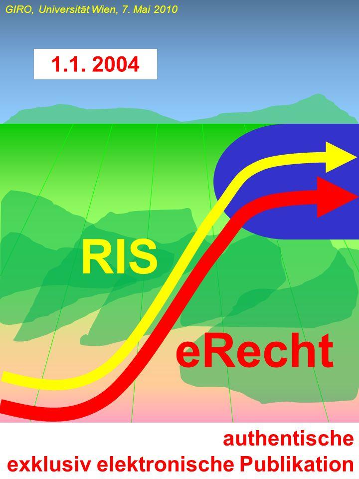 1.1. 2004 RIS eRecht authentische exklusiv elektronische Publikation
