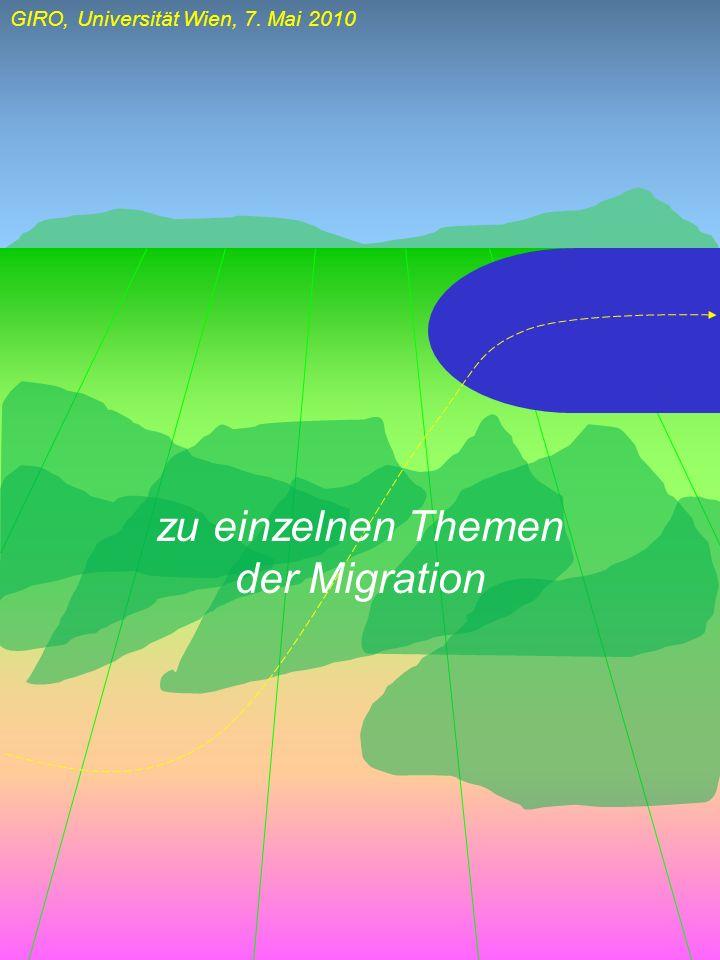 zu einzelnen Themen der Migration