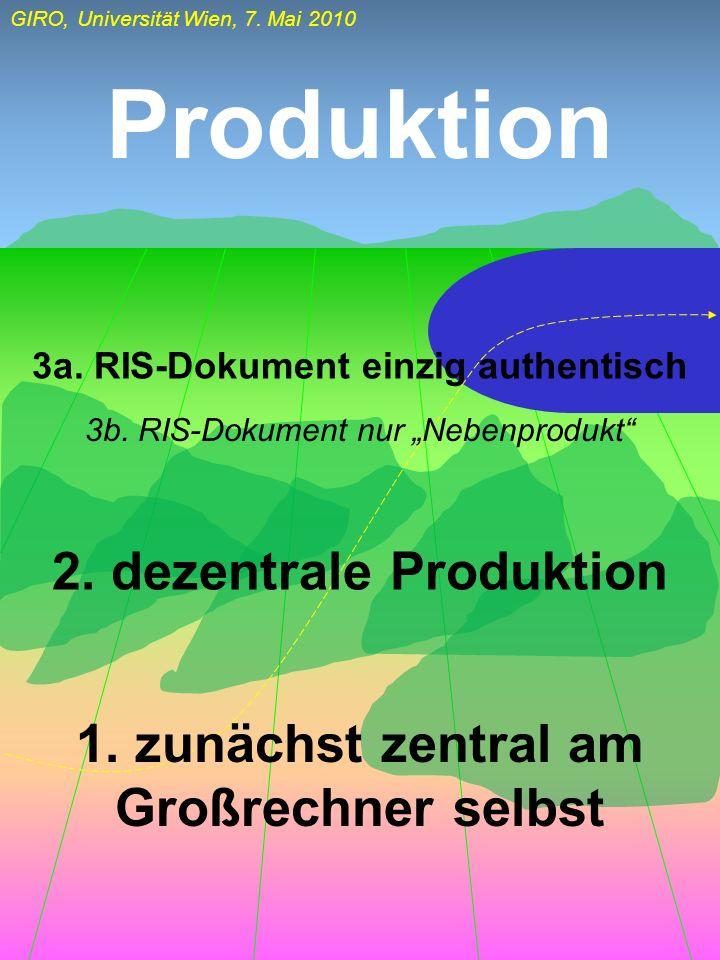 Produktion 2. dezentrale Produktion