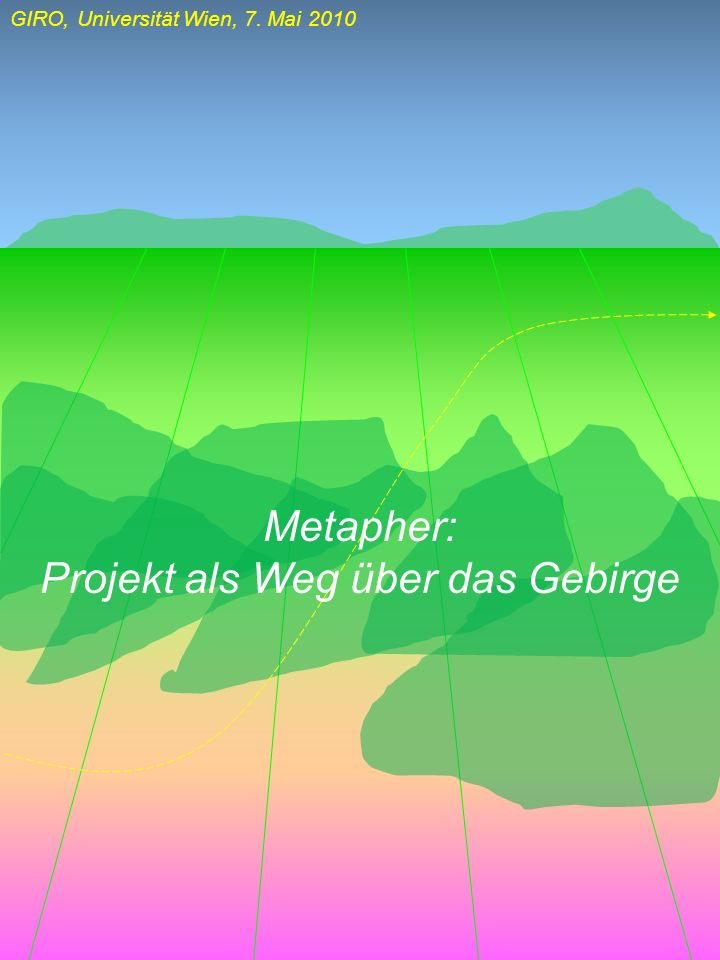 Projekt als Weg über das Gebirge