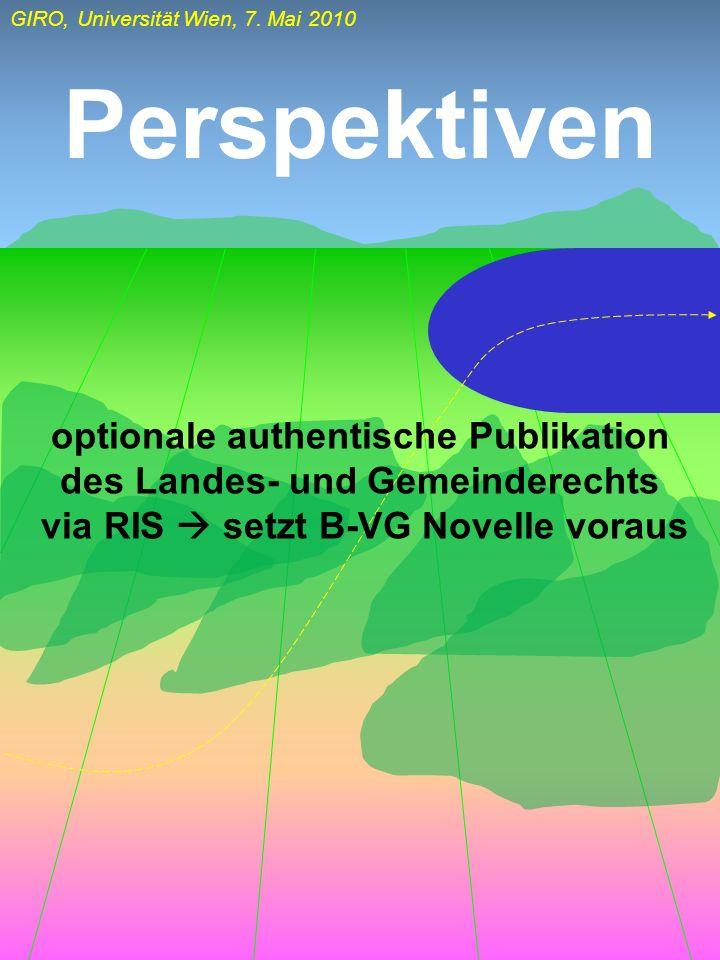 Perspektiven optionale authentische Publikation