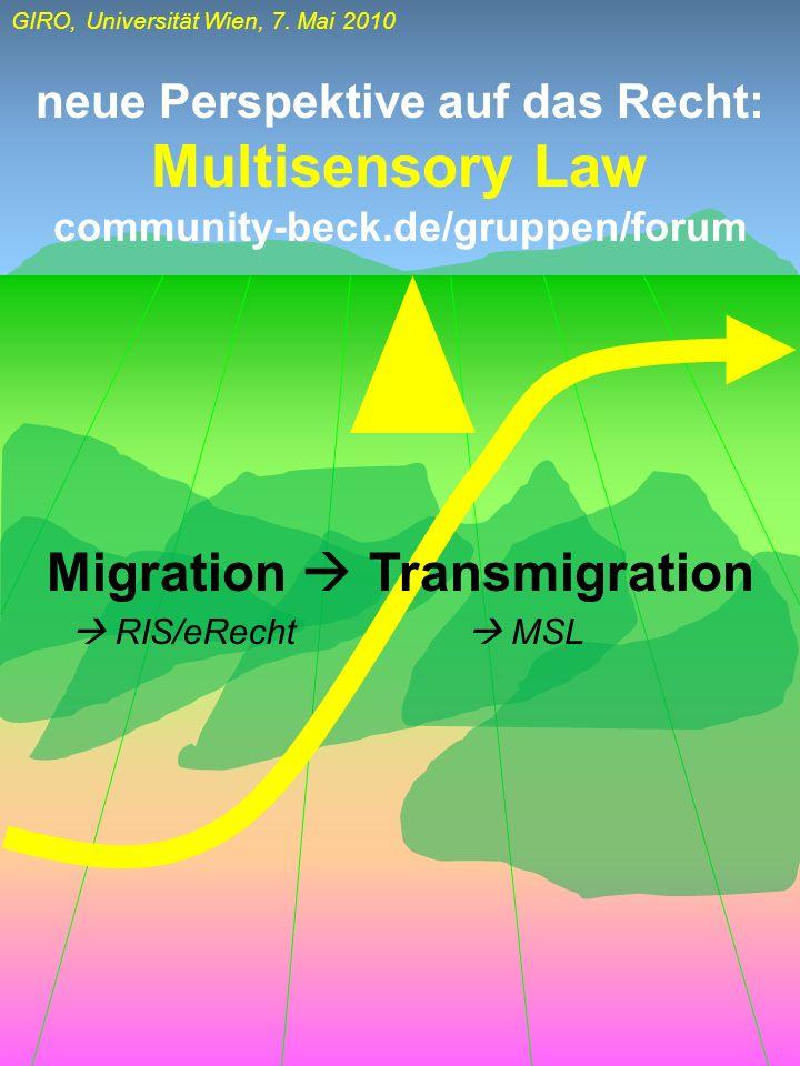 Multisensory Law Migration  Transmigration