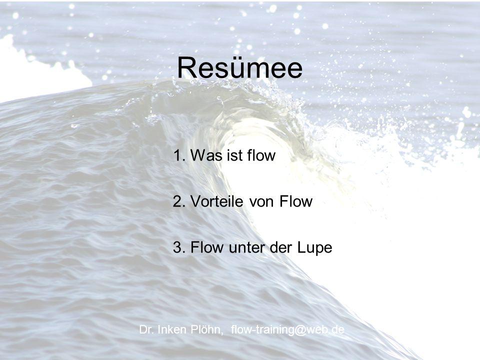 Resümee 1. Was ist flow 2. Vorteile von Flow 3. Flow unter der Lupe