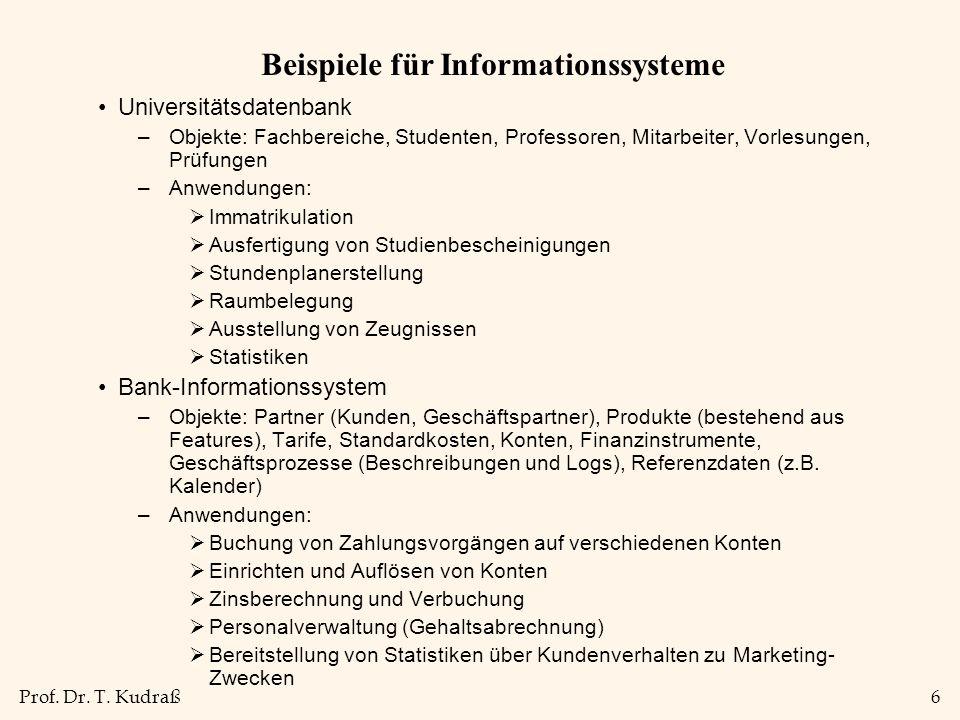 Beispiele für Informationssysteme