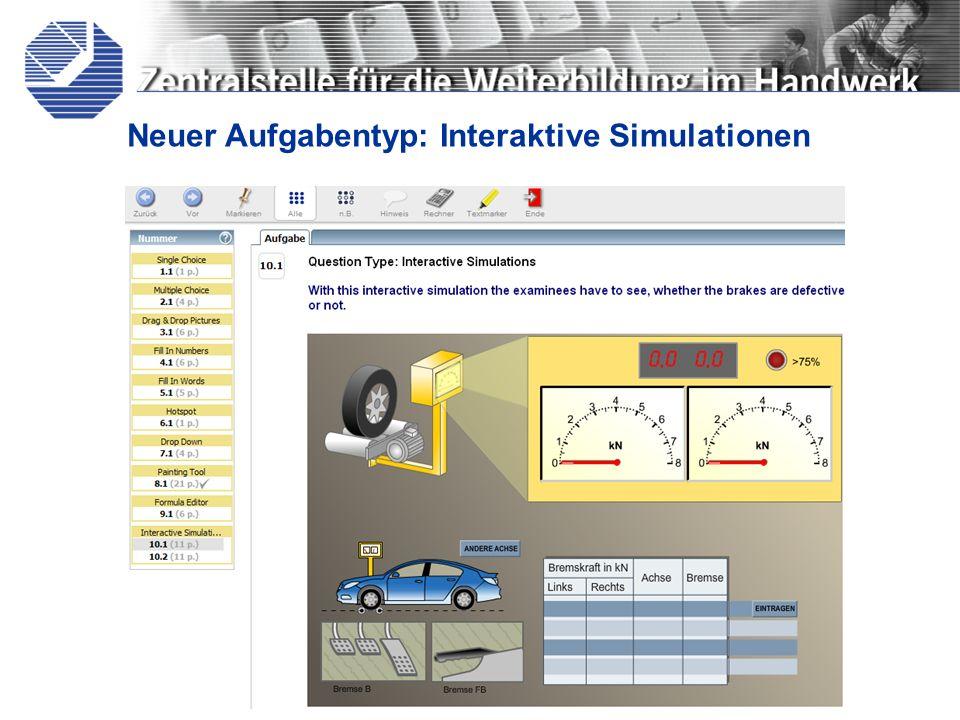 Neuer Aufgabentyp: Interaktive Simulationen