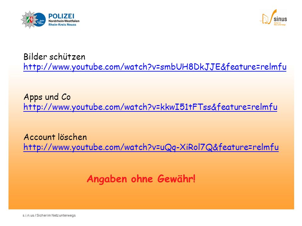 Bilder schützen http://www. youtube. com/watch