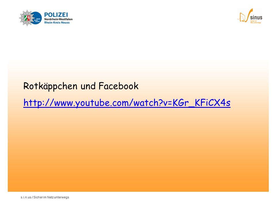 Rotkäppchen und Facebook http://www.youtube.com/watch v=KGr_KFiCX4s