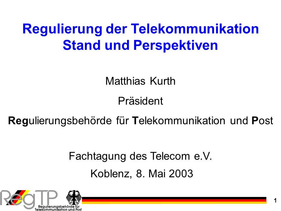Regulierung der Telekommunikation Stand und Perspektiven