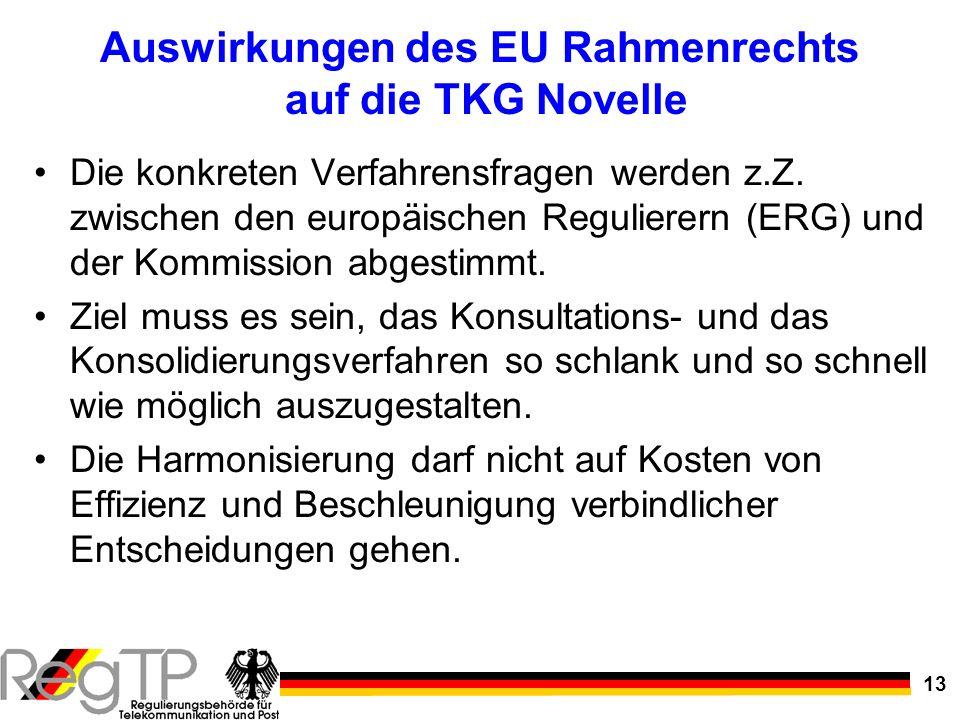 Auswirkungen des EU Rahmenrechts auf die TKG Novelle