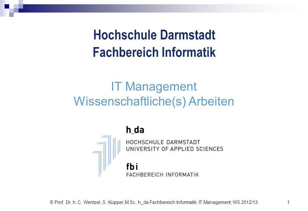 IT Management Wissenschaftliche(s) Arbeiten