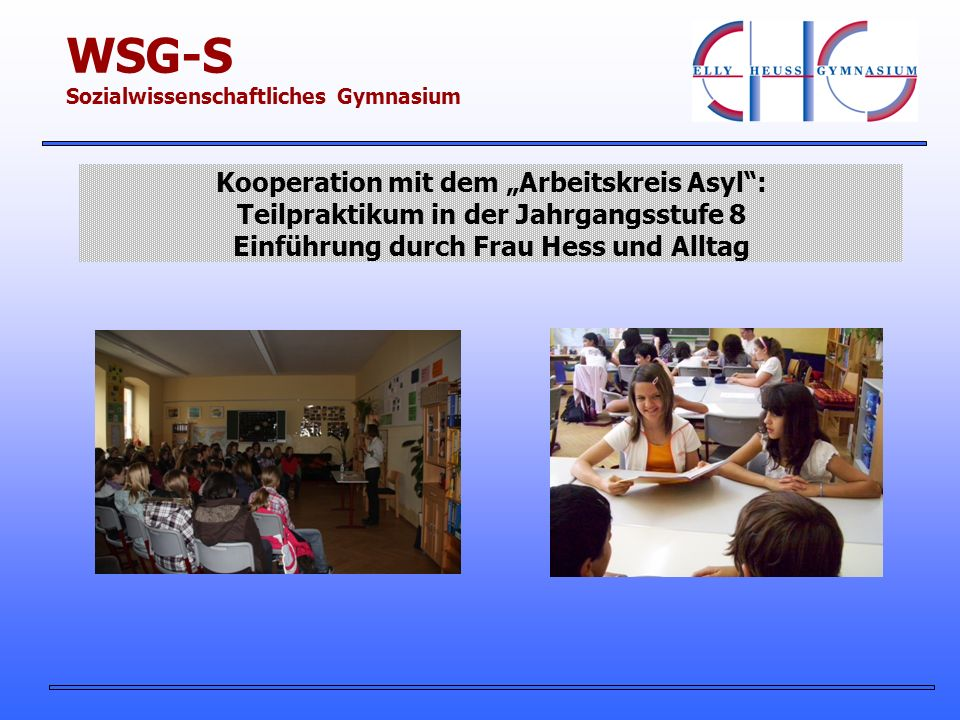 WSG-S Sozialwissenschaftliches Gymnasium