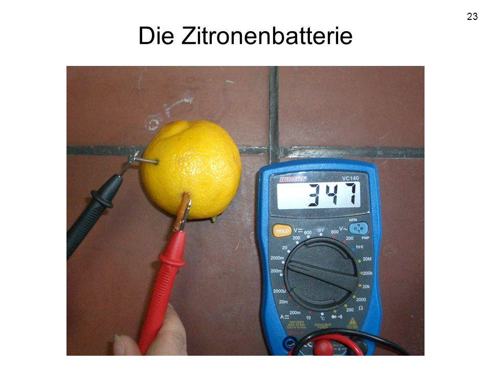 Die Zitronenbatterie