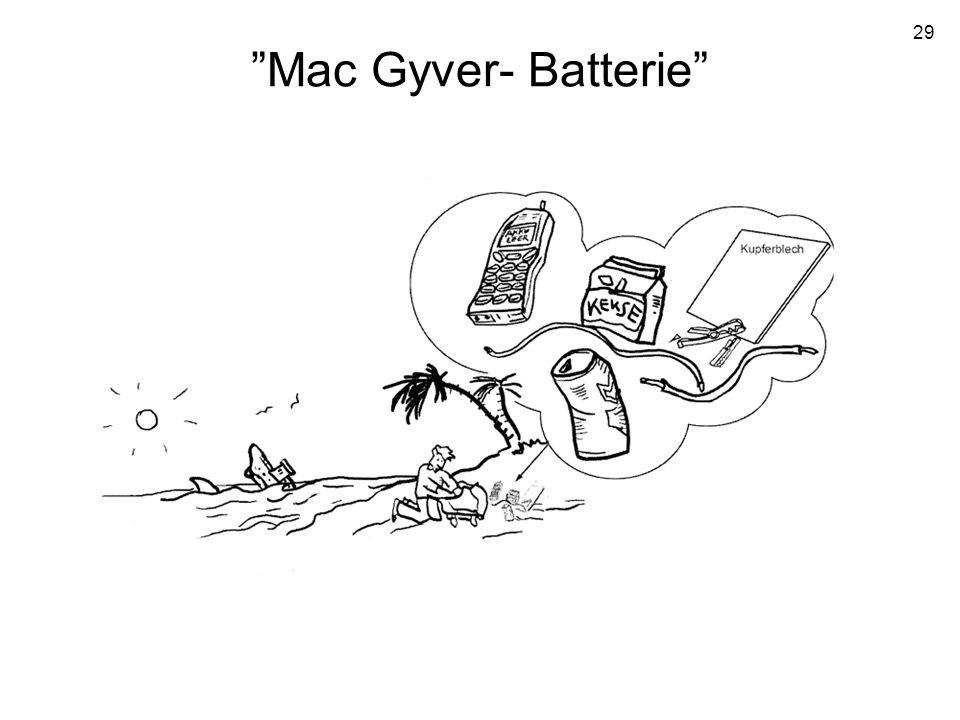 Mac Gyver- Batterie