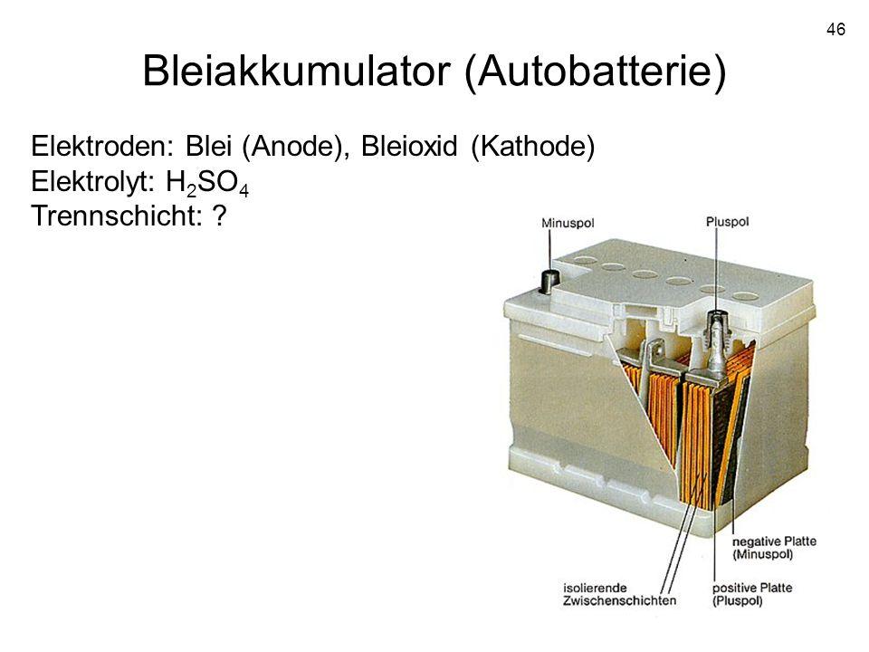 Bleiakkumulator (Autobatterie)