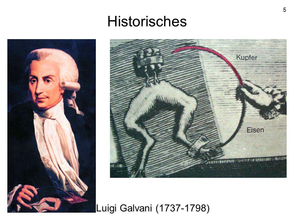 Historisches Luigi Galvani (1737-1798)