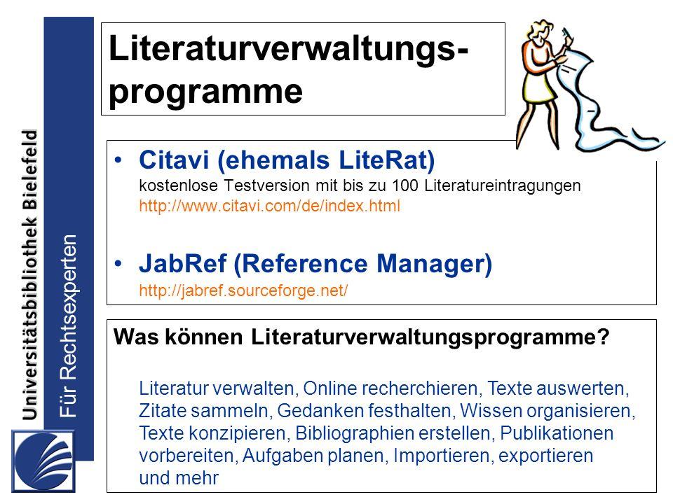 Literaturverwaltungs- programme
