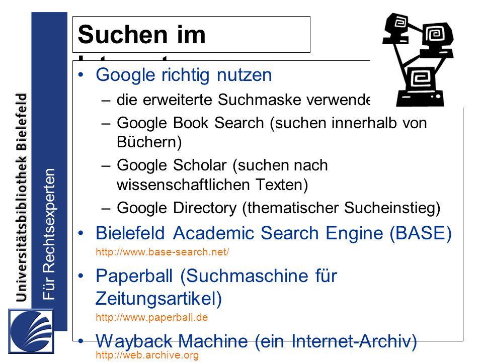 Suchen im Internet Google richtig nutzen
