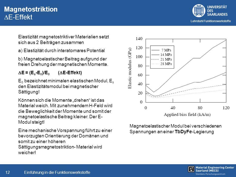 Magnetostriktion E-Effekt