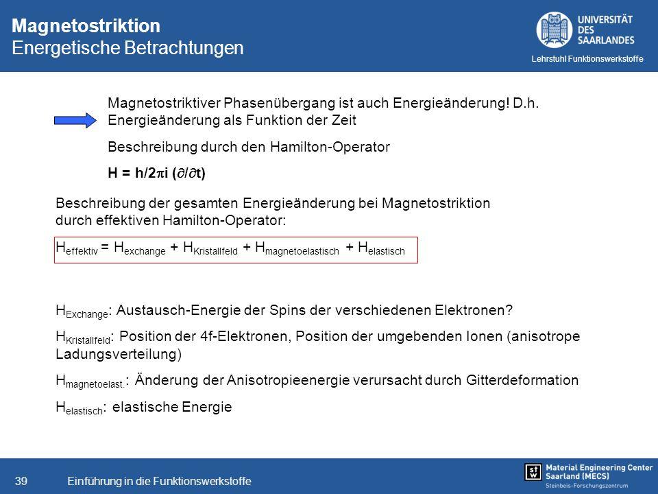 Magnetostriktion Energetische Betrachtungen