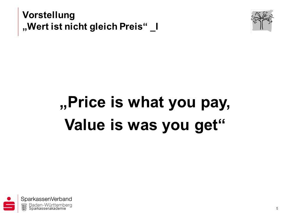 """Vorstellung """"Wert ist nicht gleich Preis _I"""