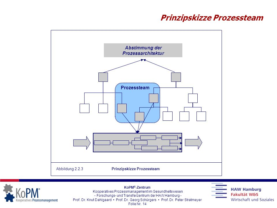 Prinzipskizze Prozessteam