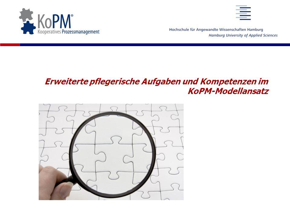 Erweiterte pflegerische Aufgaben und Kompetenzen im KoPM-Modellansatz