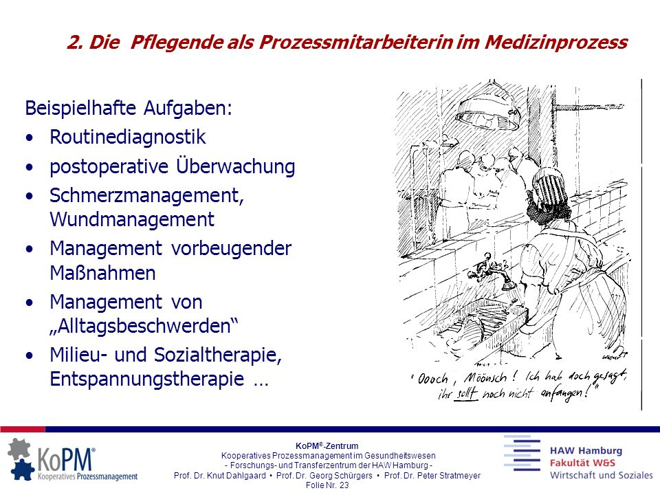 2. Die Pflegende als Prozessmitarbeiterin im Medizinprozess