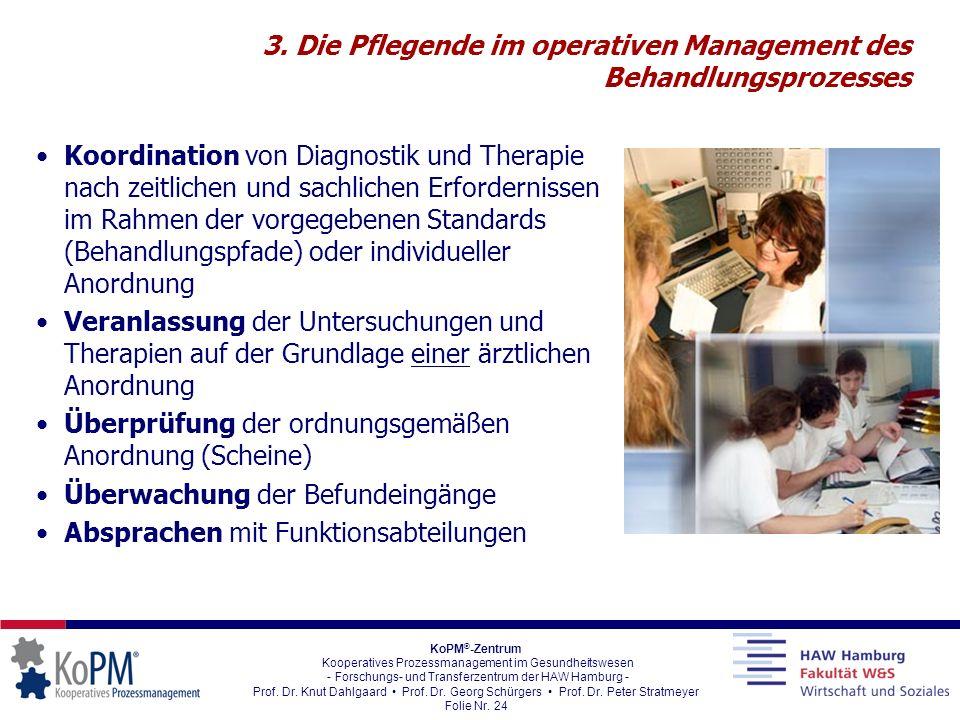 3. Die Pflegende im operativen Management des Behandlungsprozesses